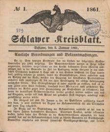 Kreisblatt des Schlawer Kreises 1861