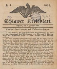 Kreisblatt des Schlawer Kreises 1862