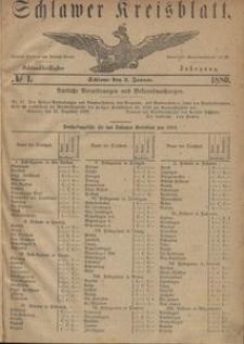 Kreisblatt des Schlawer Kreises 1880