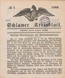 Kreisblatt des Schlawer Kreises 1860