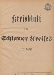 Kreisblatt des Schlawer Kreises 1881