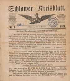 Kreisblatt des Schlawer Kreises 1871