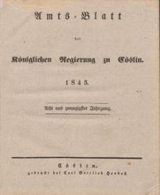 Amts-Blatt der Königlichen Regierung zu Cöslin 1843