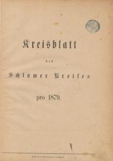 Kreisblatt des Schlawer Kreises 1879