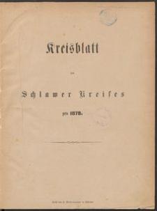 Kreisblatt des Schlawer Kreises 1878