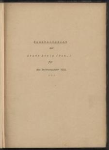 Haushaltsplan der Stadt Stolp (Pom.) für das Rechnungsjahr: 1939