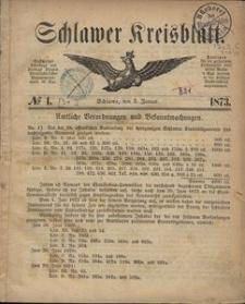 Kreisblatt des Schlawer Kreises 1873