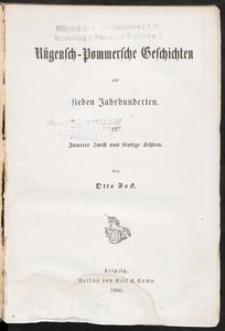 Rügensch-Pommersche Geschichten aus sieben Jahrhunderten