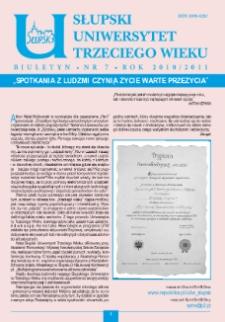 Słupski Uniwersytet Trzeciego Wieku : biuletyn, 2010/2011, nr 7