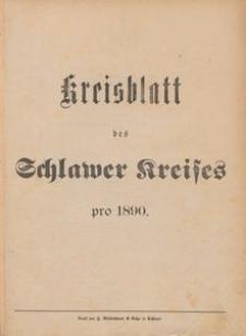 Kreisblatt des Schlawer Kreises 1890