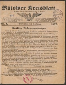Kreisblatt des Bütower Kreises 1877