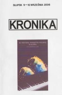 Kronika : 40 Festiwal Pianistyki Polskiej