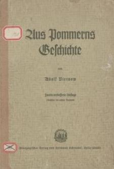 Aus Pommerns Geschichte