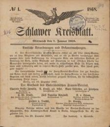 Kreisblatt des Schlawer Kreises 1868