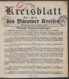 Bütower Kreisblatt 1855