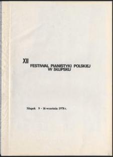 Kronika : 12 Festiwal Pianistyki Polskiej