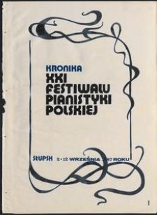 Kronika : 21 Festiwal Pianistyki Polskiej