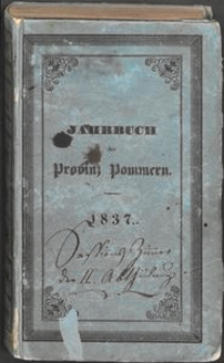 Jahrbuch der Provinz Pommern 1837