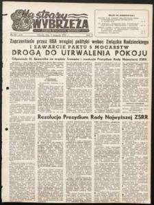 Na Straży Wybrzeża : gazeta marynarki wojennej, 1951, nr 187