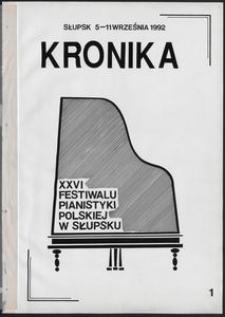 Kronika : 26 Festiwal Pianistyki Polskiej