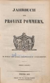 Jahrbuch der Provinz Pommern [1857]