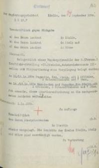 Pismo prezydenta rejencji koszalińskiej do landratów w Koszalinie, Słupsku i Bytowie z 24.09.1930 r.