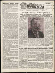 Na Straży Wybrzeża : gazeta marynarki wojennej, 1952, nr 24