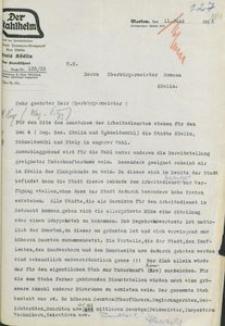 Pismo Stahlhelmu Okręgu Koszalińskiego do nadburmistrza Koszalina z 11.06.1933 r.