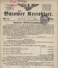 Bütower Kreisblatt 1859