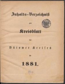 Bütower Kreisblatt 1881
