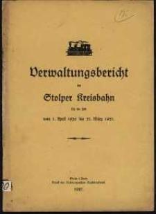 Verwaltungsbericht der Stolper Kreisbahn für die Zeit vom 1. April 1926 bis 31. März 1927