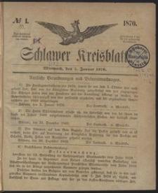 Kreisblatt des Schlawer Kreises 1870