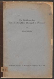 Die Einführung der kurbrandenburgischen Staatspost in Pommern