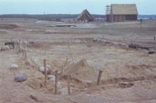Budowa stodoły zrębowej przeniesionej ze Starego Słonego