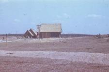 Budowa stodoły szkieletowej przeniesionej ze Skorzewa
