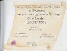 Kronika : Samorządowej Szkoły Podstawowej w Bolszewie [2003-2006]