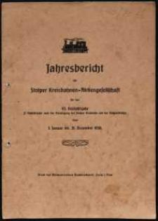 Jahresbericht der Stolper Kreisbahnen-Aktiengesellschaft für das 43. Geschäftsjahr vom 1. Januar bis 31. Dezember 1936
