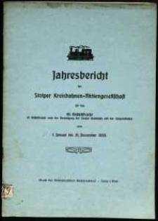 Jahresbericht der Stolper Kreisbahnen-Aktiengesellschaft für das 40. Geschäftsjahr vom 1. Januar bis 31. Dezember 1933