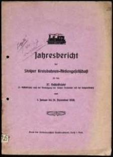 Jahresbericht der Stolper Kreisbahnen-Aktiengesellschaft für das 37. Geschäftsjahr vom 1. Januar bis 31. Dezember 1930