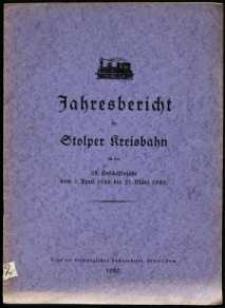 Jahresbericht der Stolper Kreisbahn für das 32. Geschäftsjahr vom 1. April 1928 bis 31. März 1929