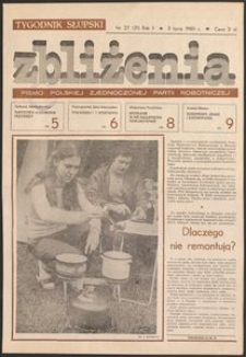 Zbliżenia : tygodnik społeczno-polityczny, 1980, nr 27