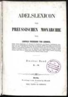 Adelslexicon der Preussischen Monarchie. T. 2 (L-S)
