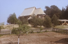 Fragment zabudowy zabytkowej Kaszubskiego Parku Etnograficznego - Wdzydze KPE