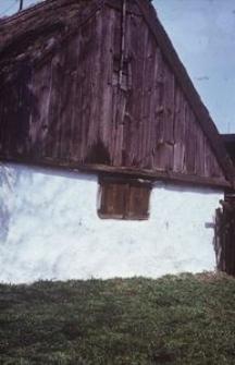 Chałupa konstrukcji zrębowej, otynkowana, z I poł. XIX wieku - Semlin
