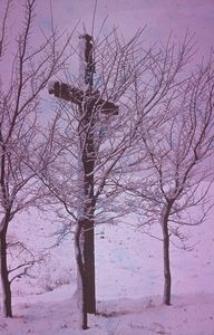 Krzyż przy drodze z Goręczyna do Ramlejów - Goręczyno