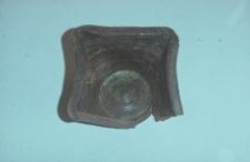 Kafel doniczkowy odnaleziony podczas rozbiórki XVIII-wiecznego dworku - Nowy Barkoczyn