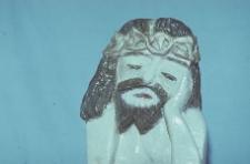 Rzeźba w drewnie. Chrystus Frasobliwy - Wąglikowice