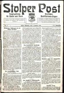 Stolper Post. Tageszeitung für Stadt und Land Nr. 2/1927