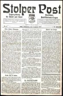 Stolper Post. Tageszeitung für Stadt und Land Nr. 6/1927