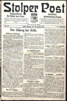 Stolper Post. Tageszeitung für Stadt und Land Nr. 19/1927
